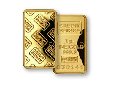 Credit Suisse 1 Gram Gold Bar Gold Bullion Bars Gold Bullion Gold Coins