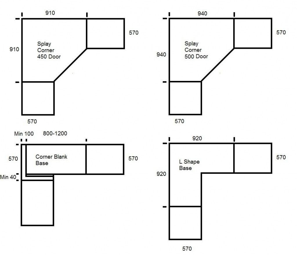 Kitchen Cabinet Plans Dimensions: Corner Pantry Cabinet Sizes
