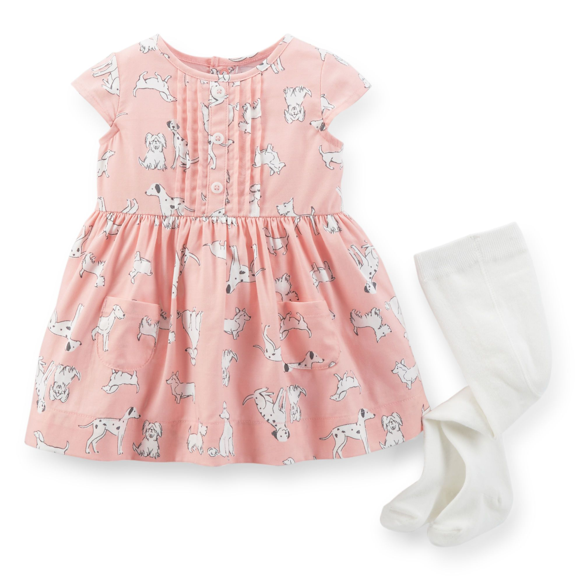 2-Piece Twill Dress & Tights Set | Carter\'s | BABY STYLE | Pinterest