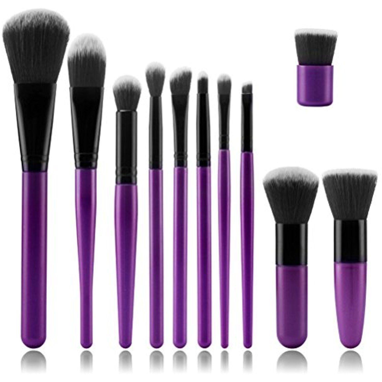 11pcs Kabuki Makeup Brush Set ASIMOON Premium Makeup