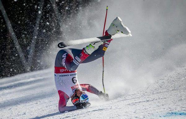 Bode Miller Ski racing  crash at the World Alpine Ski Championships 2015 held at @vailmountain @Beavercreek www.familyskitrips.com