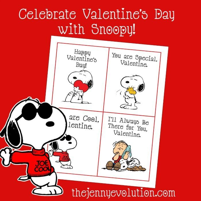 Peanuts Valentine Free Printable Cards Featuring Snoopy After
