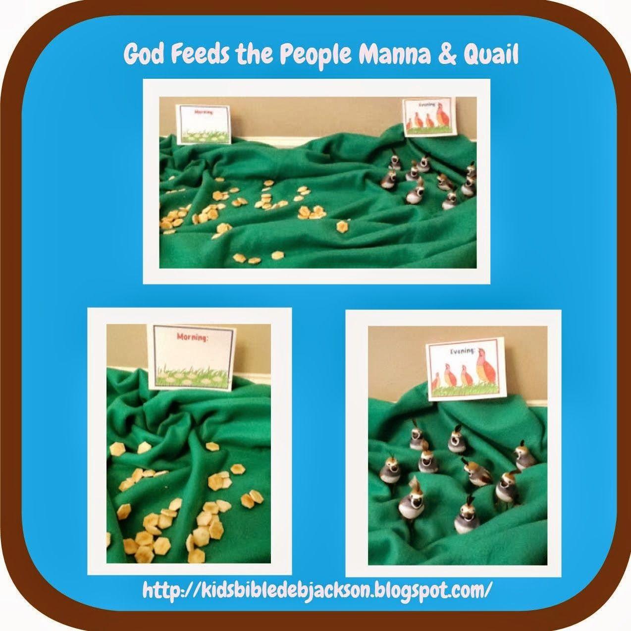 6. Moses God Sends Manna & Quail lesson, ideas and printables ...