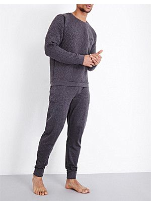 31af79b0caf56c HUGO BOSS Contemporary quilted cotton-jersey sweatshirt | Spring '18 ...