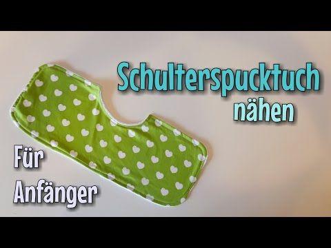 Schulterspucktuch Nähanleitung - OHNE Schnittmuster - Anfänger ...
