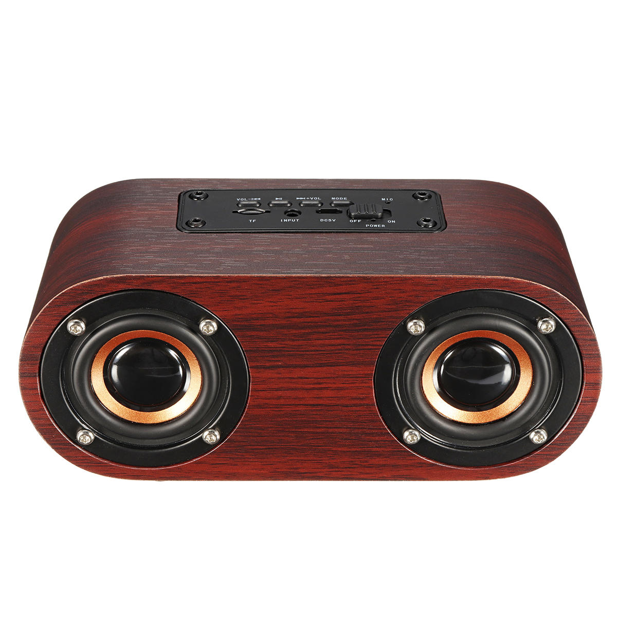 Wireless Wooden Bluetooth Speaker Loudspeaker Music Player Tf Usb