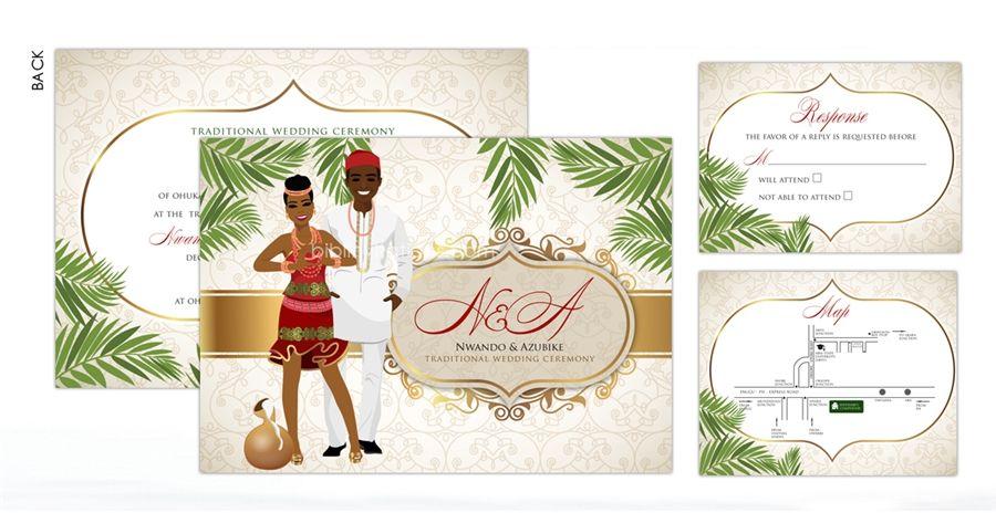 Igbo Traditional Wedding Invitation Cards: Pin By Bibi Invitations On Igbo Traditional Wedding
