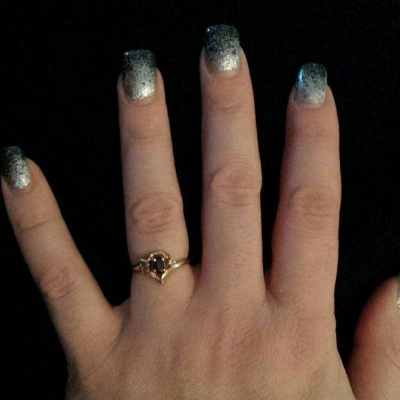 Sapphire Black Hills Gold Ring w/ Genuine Diamond EUC 10k Sapphire Black Hills Gold Ring with Genuine Diamond. (PRICE FIRM) Black Hills Gold Jewelry Rings