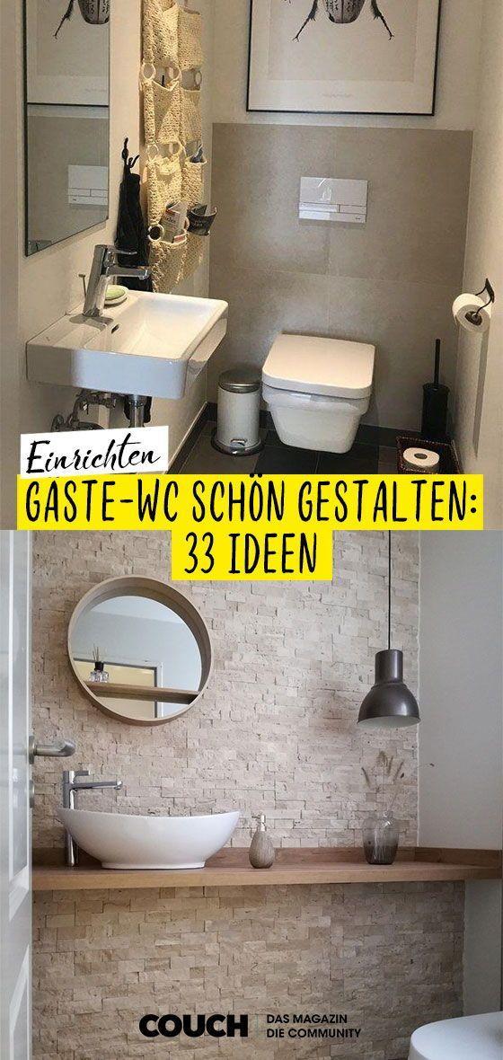 Gäste-WC gestalten: Einladend statt nüchtern, so geh... -
