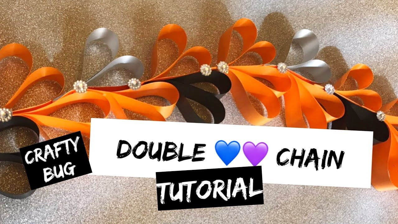 DIY homecoming mum DOUBLE HEART RIBBON CHAIN/ braid tutorial