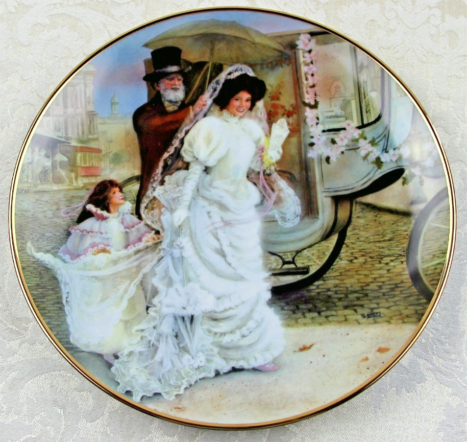 """Portraits Of American Brides Collection Plate ~ """"Jacqueline""""."""