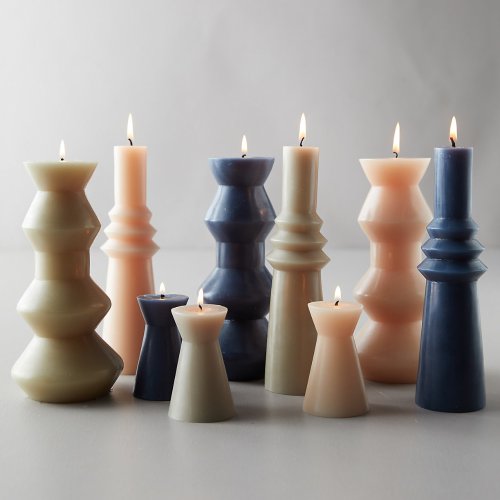 Geo Pillar Candle Large In 2020 Pillar Candles Candles