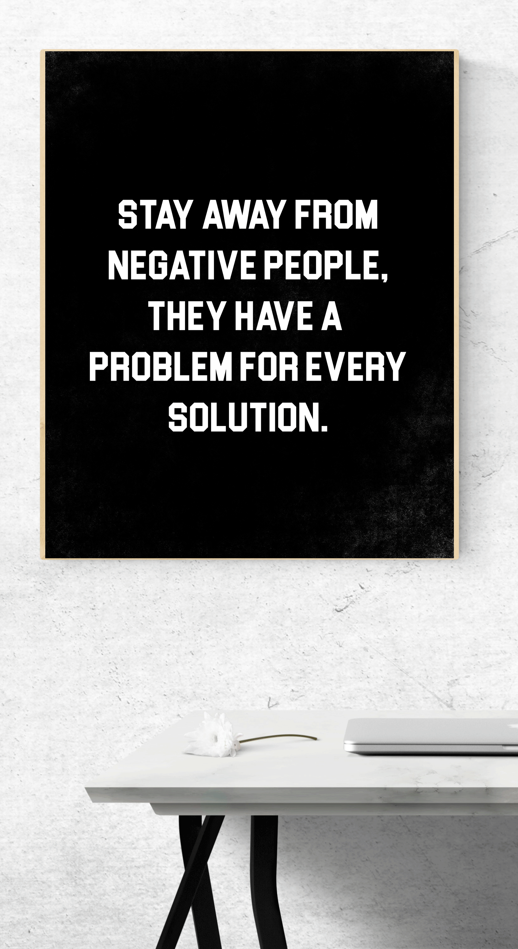 Inspirational Quote Print Custom Wall Art Motivational Download Black And White Print Home Wal Work Quotes Negative People Quotes Work Quotes Inspirational
