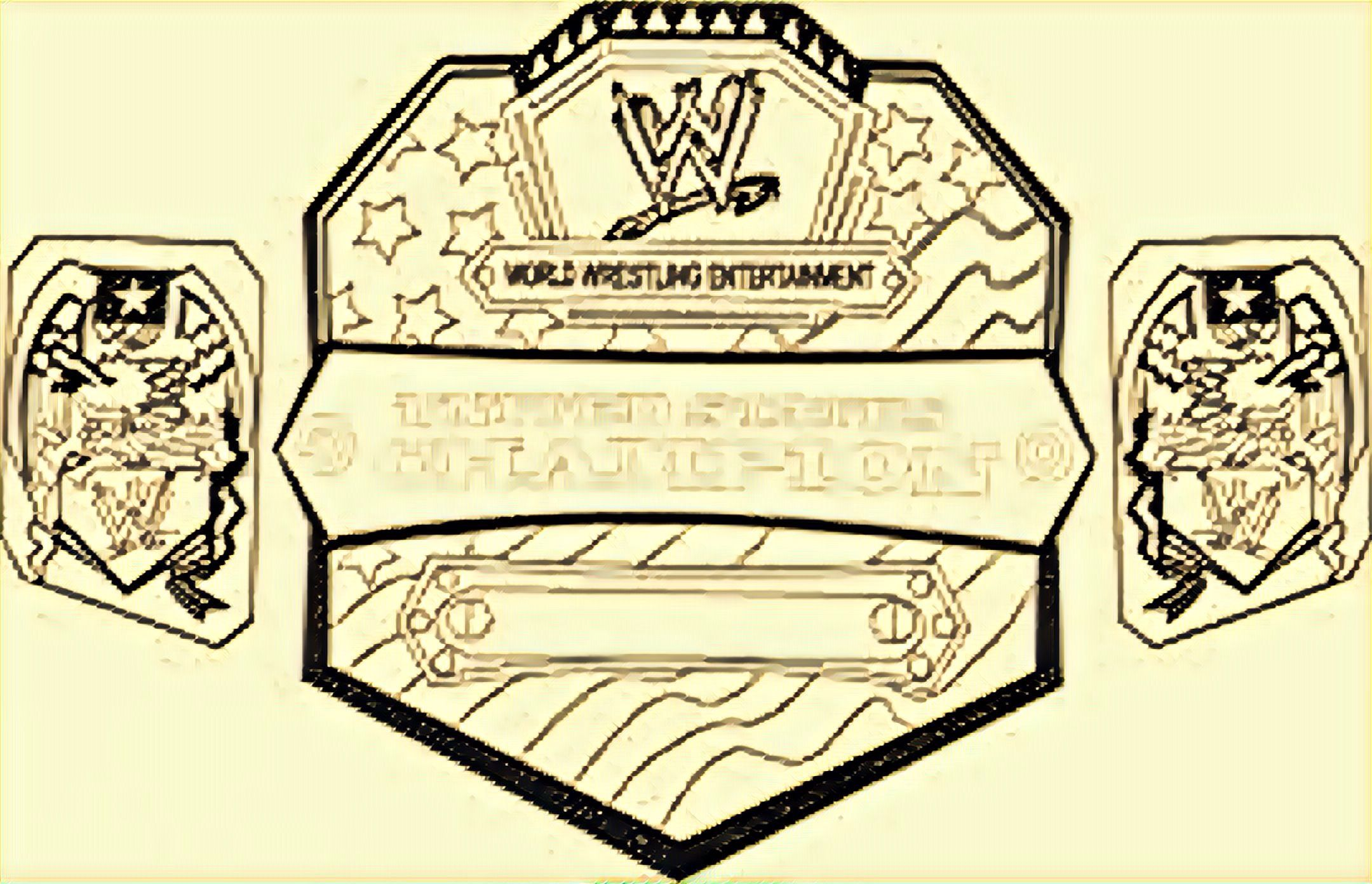 Pin by Corey Bella on Colouring pages WWE Belts Colouring ...