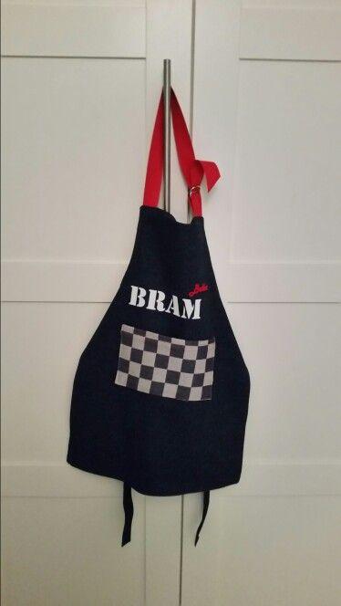 keukenschort voor Bram van 4 jaar