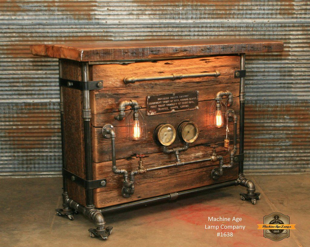 Tete De Lit Style Industriel Steampunk Industrial Bar Railroad Hostess Stand