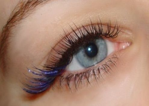 BLUE - TEAL color volume eyelash extensions by me! Using Lash ...