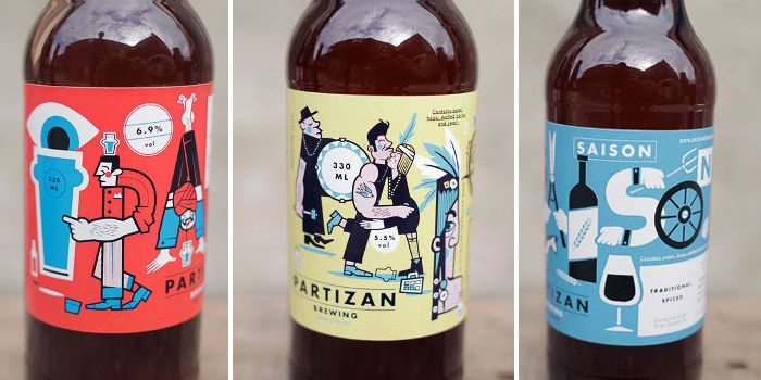Partizan Brewing Packaging Design Package Design And Design Packaging
