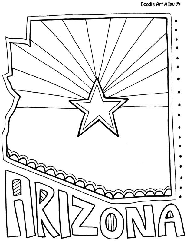 Arizona coloring page by doodle art alley usa coloring for A z coloring pages