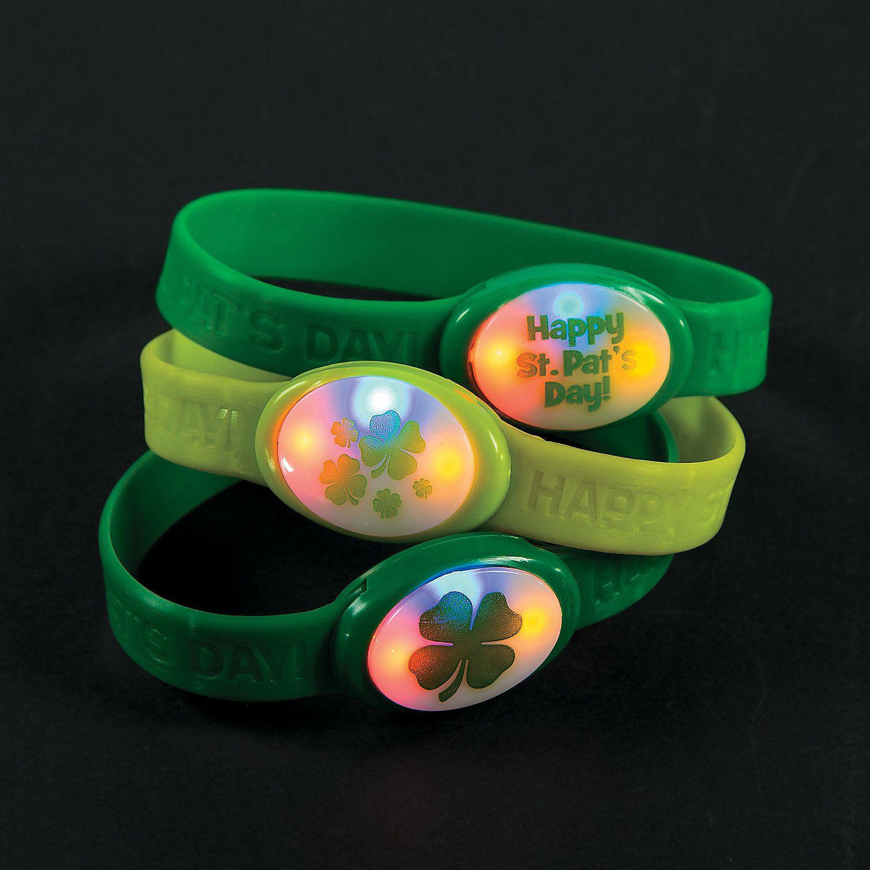 St. Patrick's Day Flashing Bracelets - $15.99/dozen