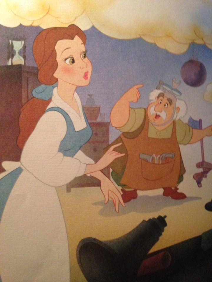 Belle And Her Father Maurice With Images Disney Beauty And