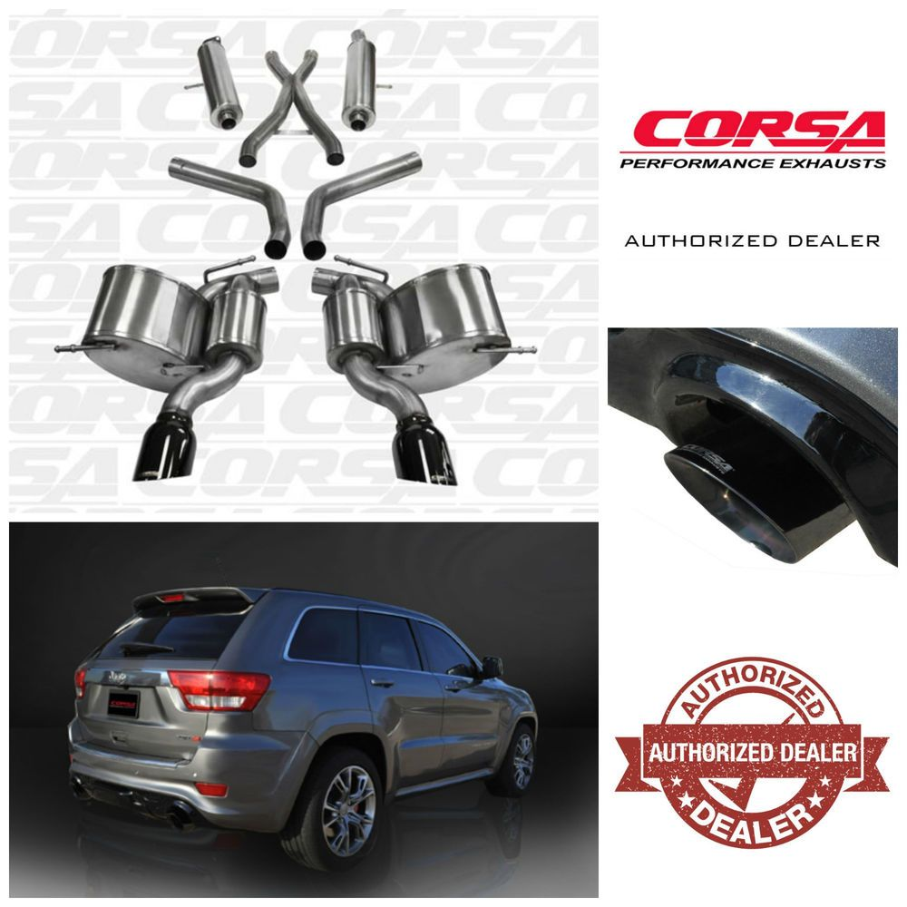 Details about Corsa Black Tips SPORT Cat Back 20122017