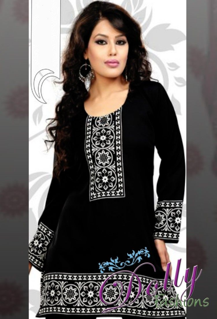 Indian tunic top (also called Kurti) for women made of cotton with ...