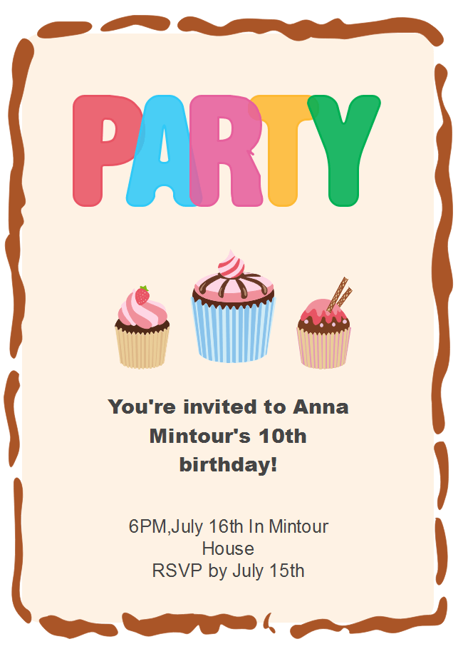 free baking party invitation templates