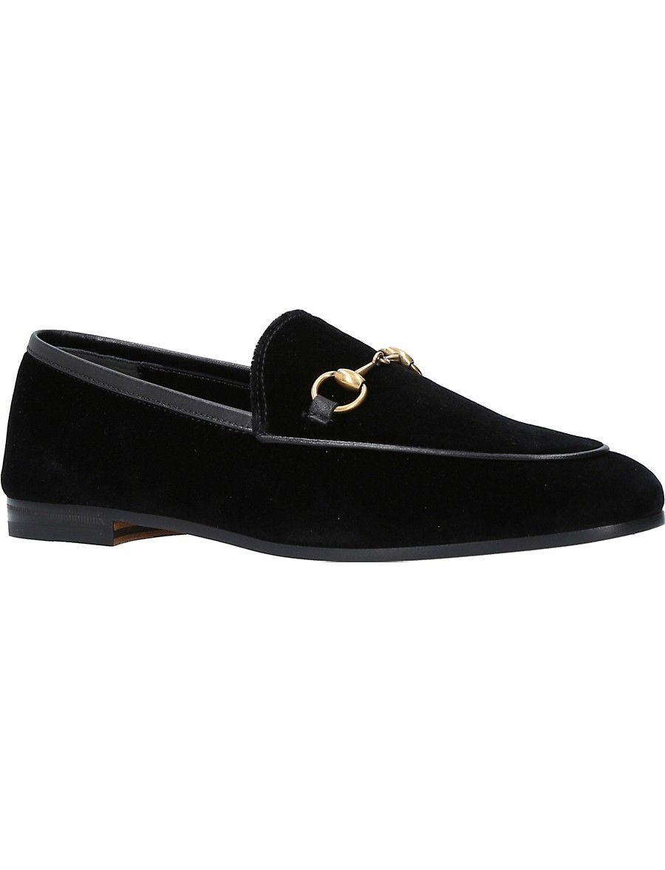 GUCCI Jordaan velvet loafers   Velvet