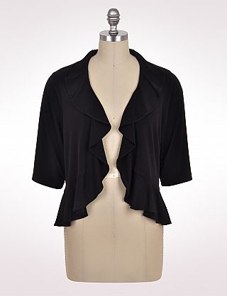 Plus Size Ruffle Edge Jacket | Dressbarn | Work separates I like ...
