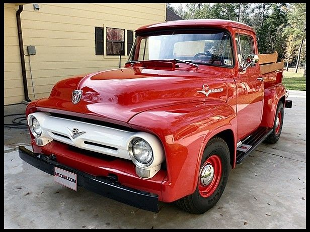 Get Your Haul On In This 1956 Ford F100 Pickup 272 Ci 4 Speed Mecumhouston With Images 1956 Ford F100 Classic Pickup Trucks Classic Ford Trucks