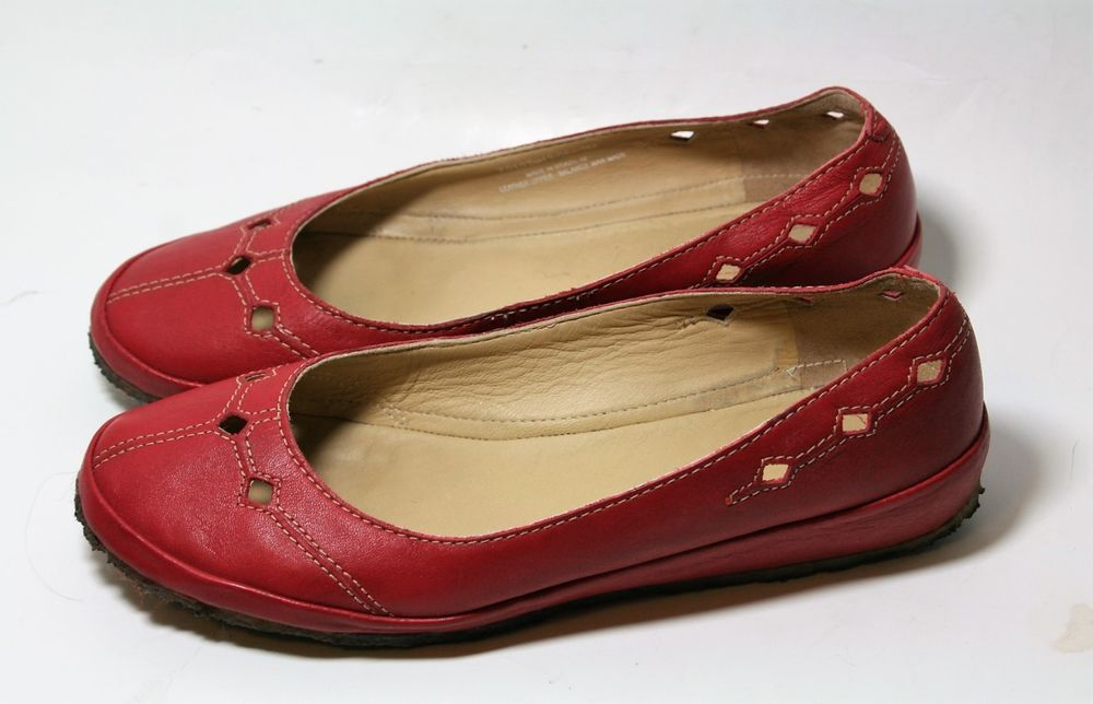 f4a17ff7e65 CLARKS ORIGINALS SHOES WOMEN S BALLET FLATS RED LEATHER 9.5  Clarks   BalletFlats  Casual