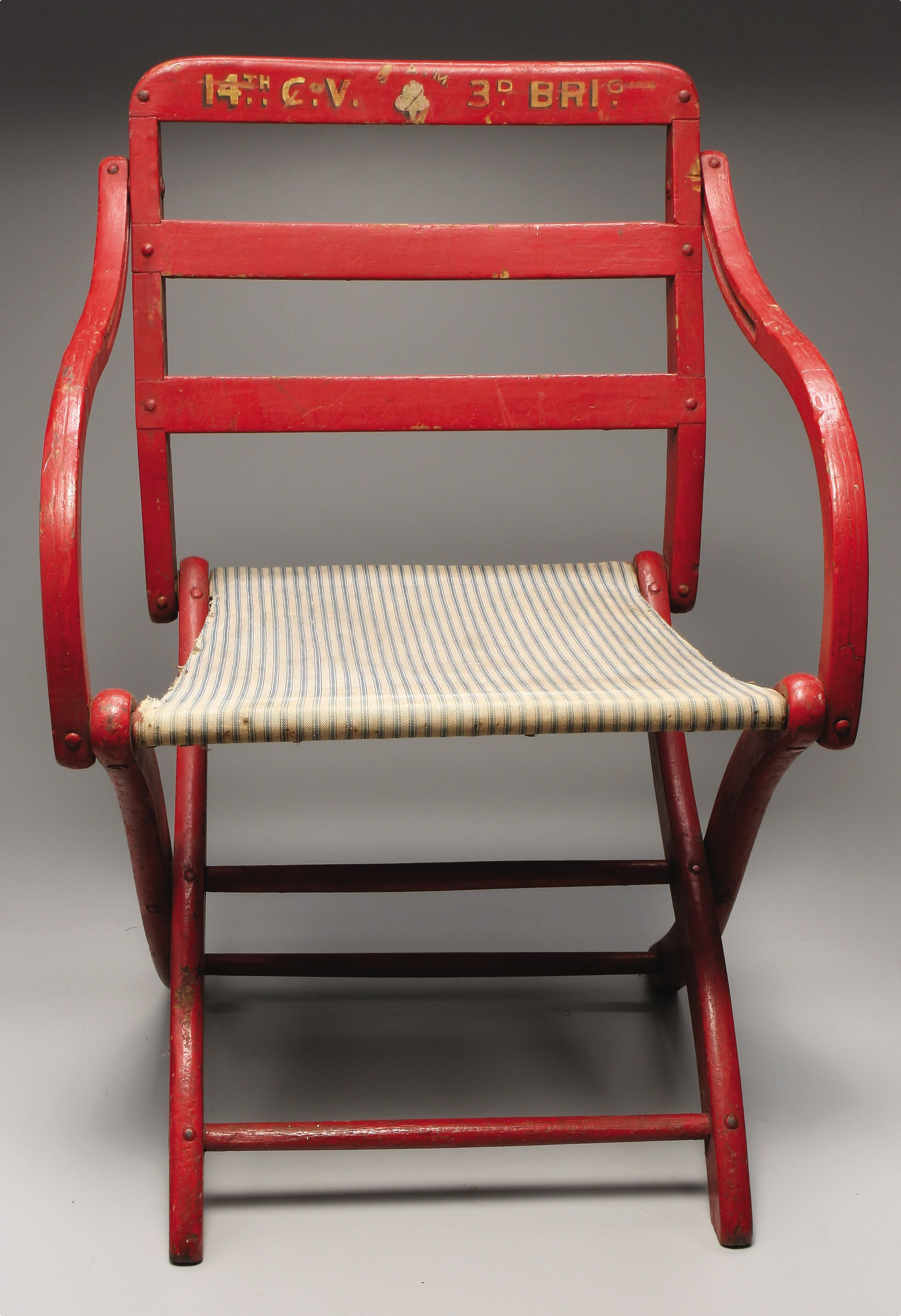 Civil War Camp Chair From Captain Later Lieutenant Colonel