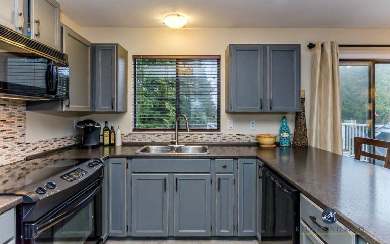 My Kitchen Painted and Distressed (Oak to Gray