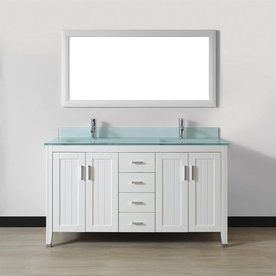Spa Bathe Jaq White Integrated Double Sink Bathroom Vanity With