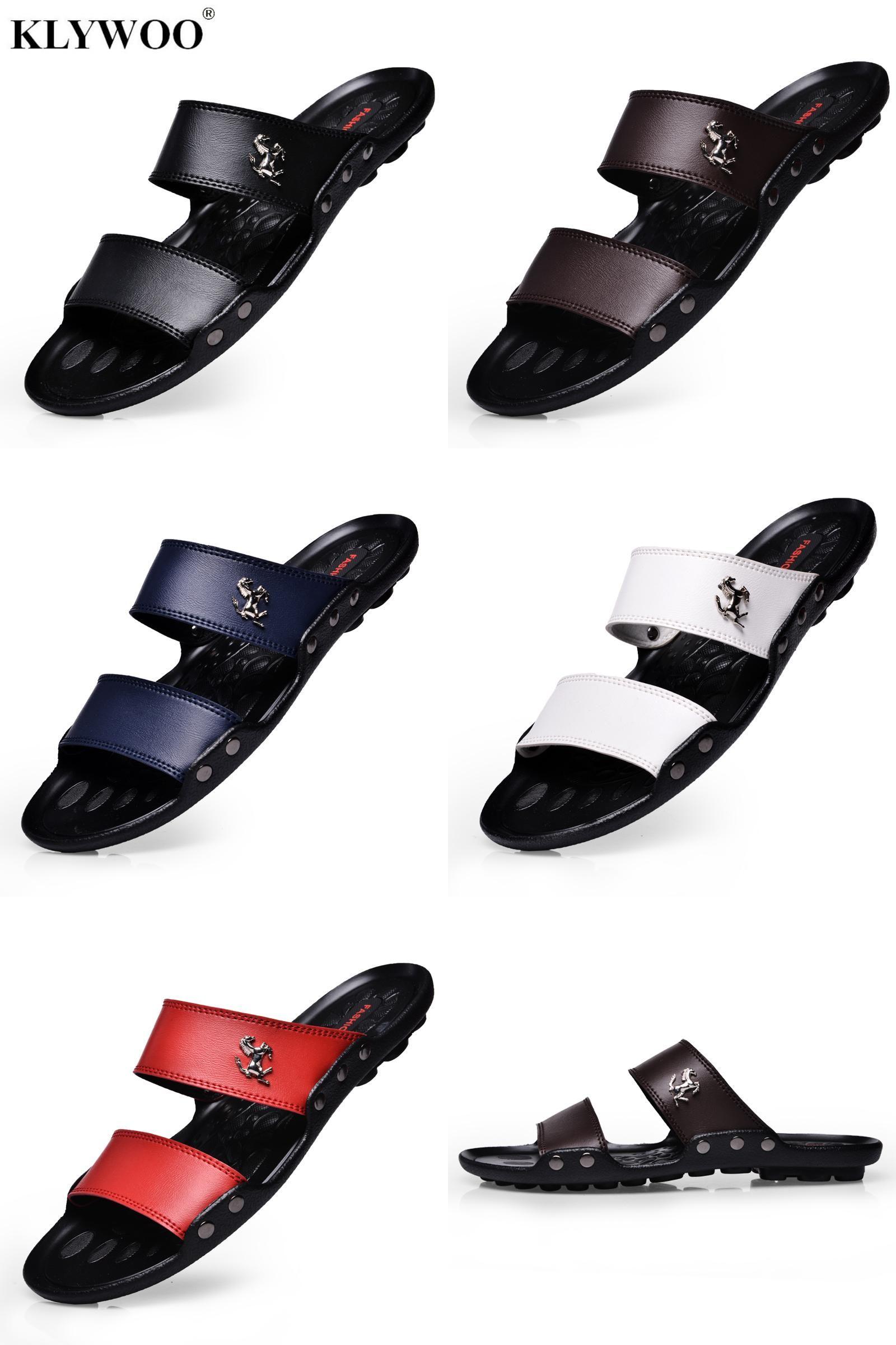 92bdf8d55323  Visit to Buy  Hot New Summer Fashion Shoes Men Flats Sandals Slides Beach  Flip