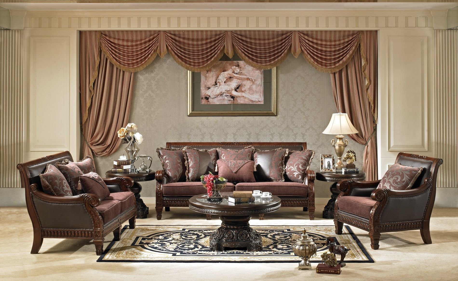 Formal living room furniture filled with unique furniture house