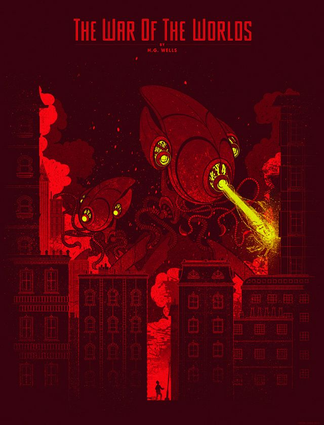 War of The Worlds & Time Machine Tribute Art Prints by Kevin Tong