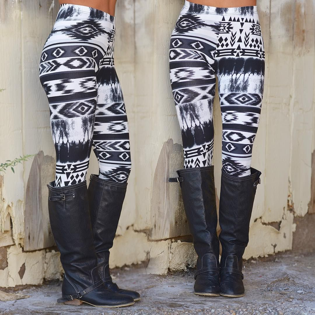 """Looking for a unique print to add some fun flair to your outfit? These adorable leggings are the answer! $13.99, available in sizes S/M and M/L."""