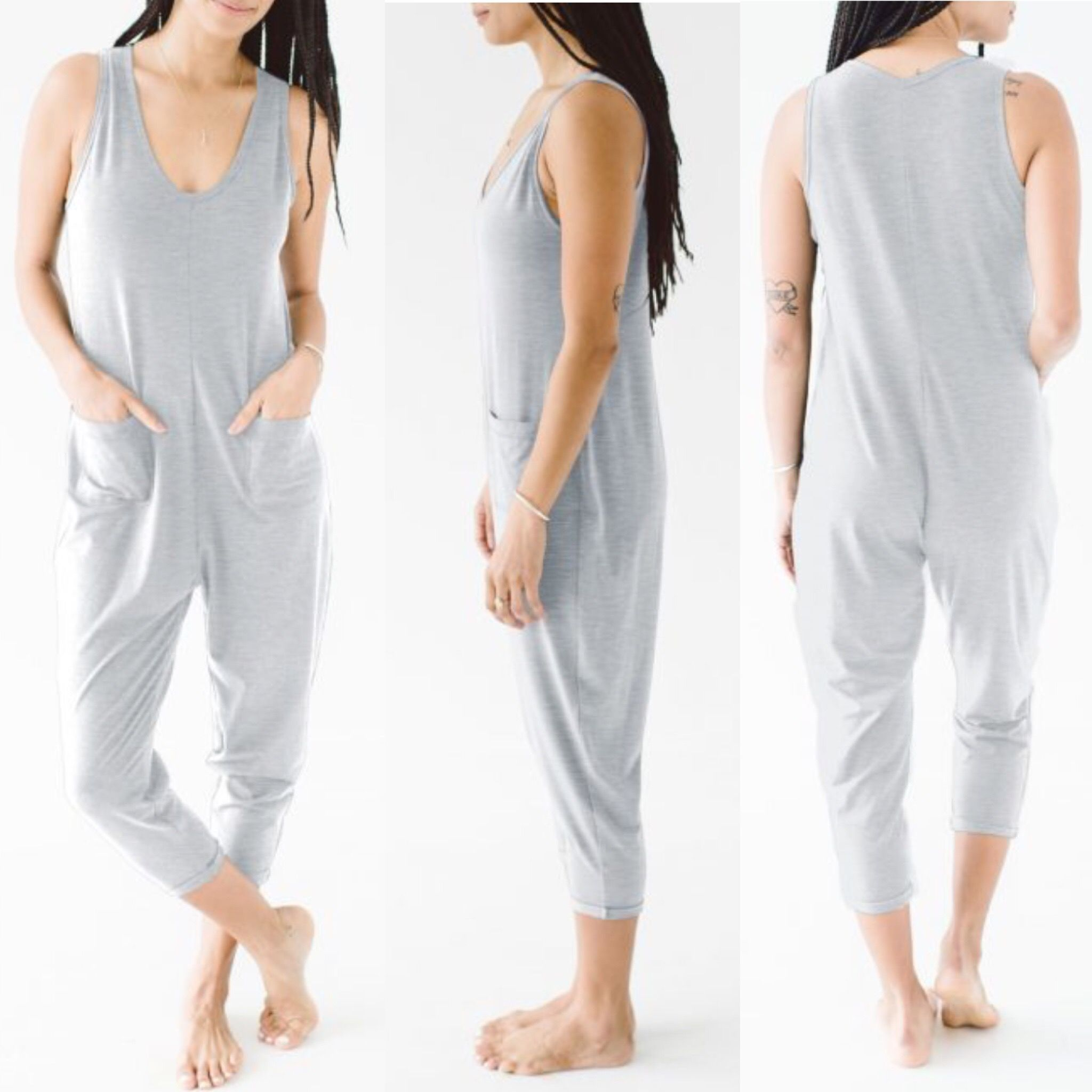 54dfaf62361e The Saturday Romper by Smash and Tess in Jillian grey-I need this in my  life!
