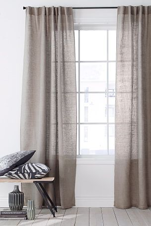 Hanklängd i linvoile 2-pack | 布艺 | Pinterest | Linens, Window and ...