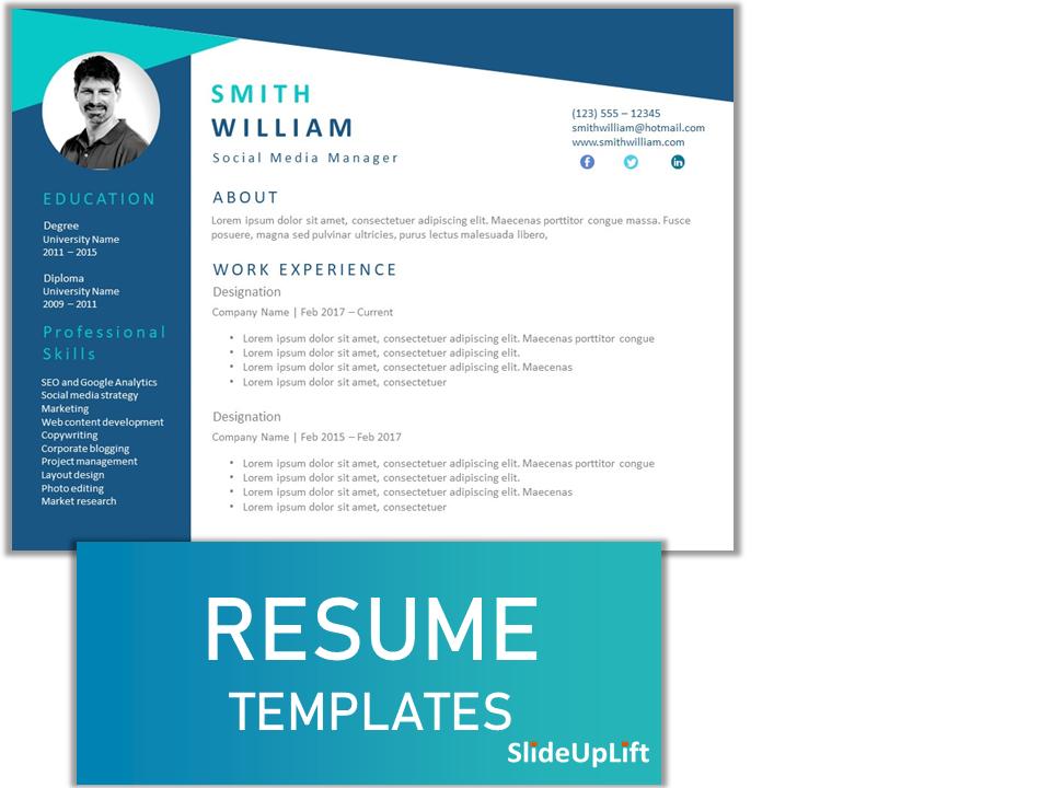 Resume Powerpoint Templates Sliduplift In 2020 Powerpoint Templates Best Resume Template Creative Resume Templates
