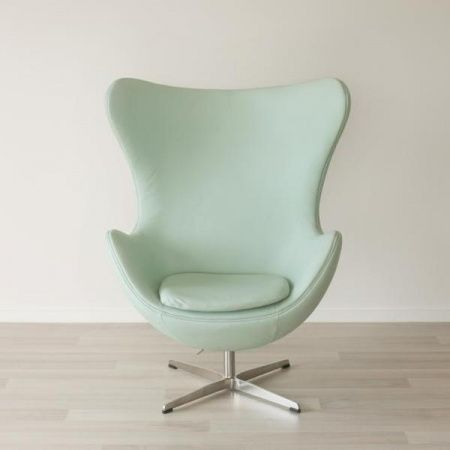 mint green leather egg chair b project pinterest egg chair college room and hgtv. Black Bedroom Furniture Sets. Home Design Ideas