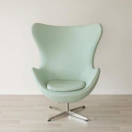 Prime Mint Green Leather Egg Chair B Project Egg Chair Chair Machost Co Dining Chair Design Ideas Machostcouk