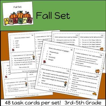 Grammar practice task cards bundle 3rd grade 5th grade grammar grammar practice task cards bundle 3rd grade 5th grade sciox Images