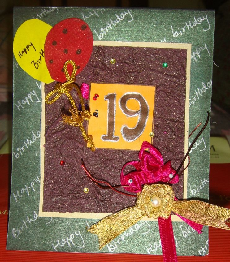 Projects Kalakruti 19th birthday Card.. 19th birthday