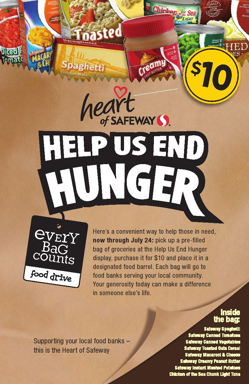 free food drive flyer template
