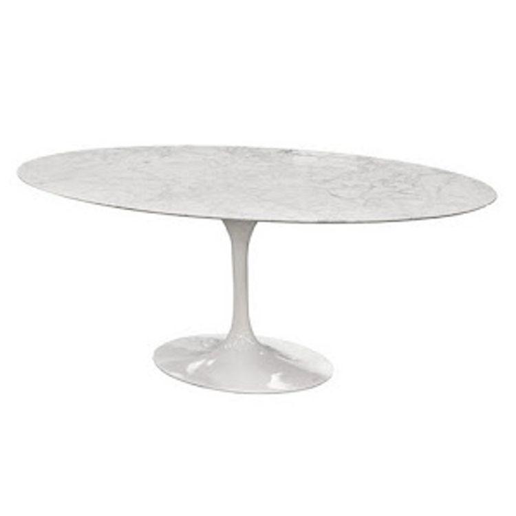 Eero Saarinen Style Tulip Marble Table Oval 59 Marble Table Saarinen Dining Table Marble Tulip Table