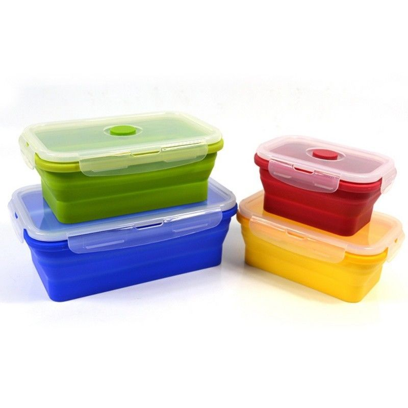6 24 foldable microwave oven bento silicone lunch box picnic food rh pinterest cl