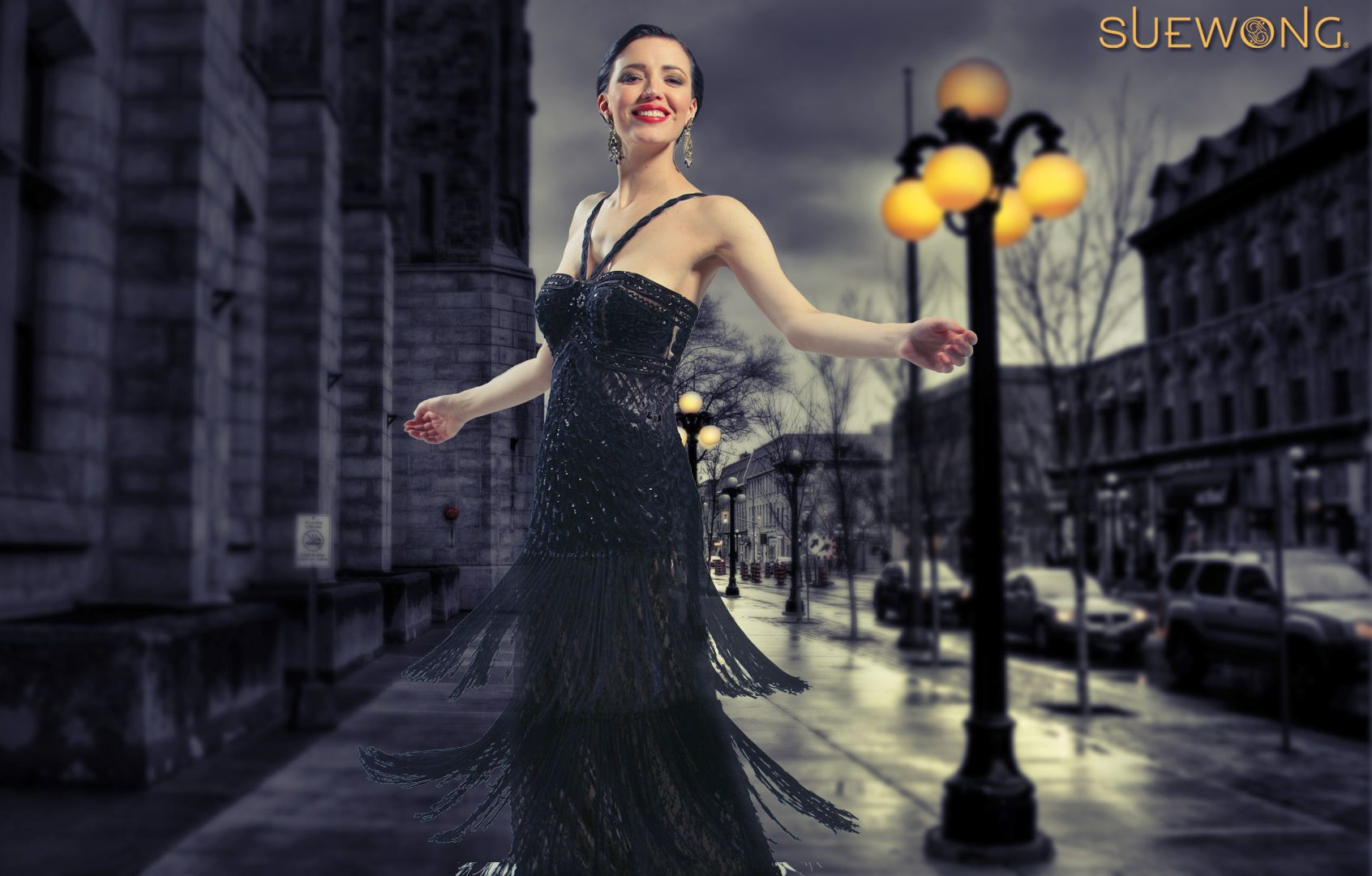 Sue Wong v-strapped gown with embroidered and beaded bodice and tiered fringe skirt… #teamsuewong #suewong #fashion #coutureinspired #picoftheday #glamorous #colorful